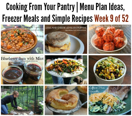 Cooking From Your Pantry | Menu Plan Ideas, Freezer Meals and Simple Recipes Week 9 of 52