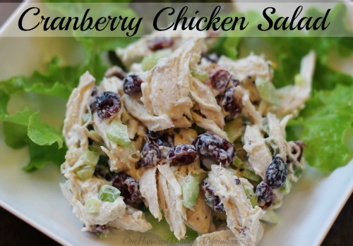 Easy Chicken Recipes – Cranberry Chicken Salad