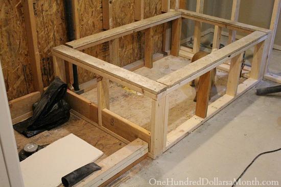 framed bathtub