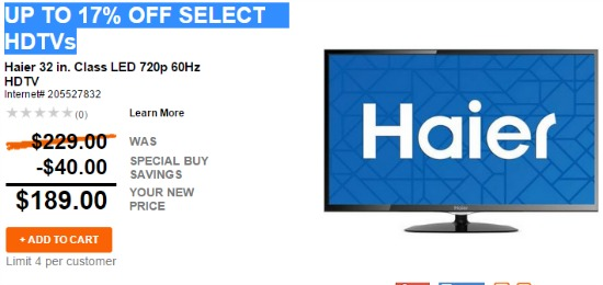 hd tv deals