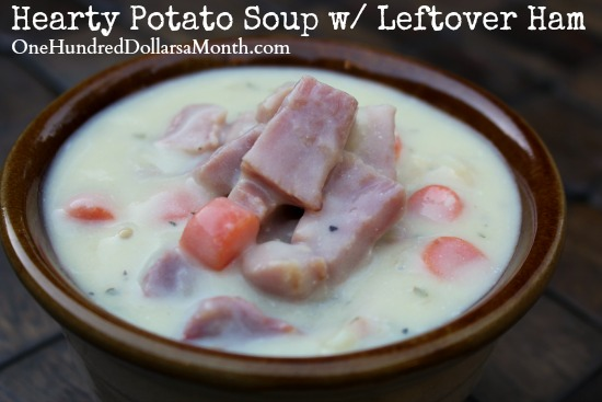 Hearty Potato Soup w/ Leftover Ham