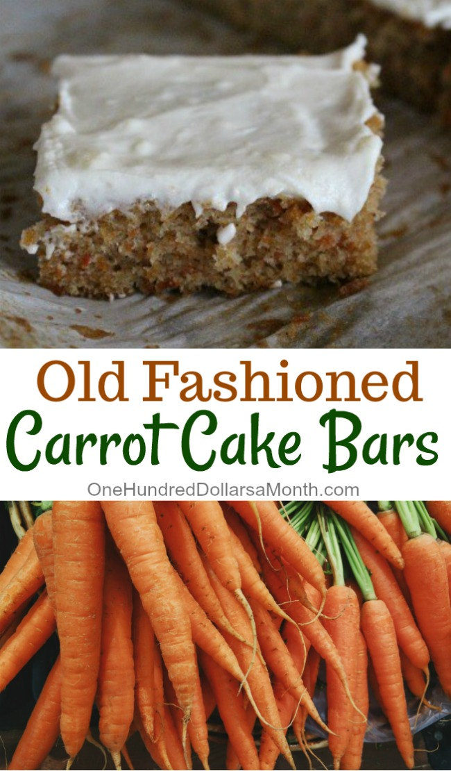 Old Fashioned Carrot Cake Bars