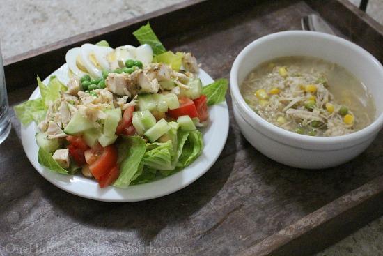 chop salad with chicken