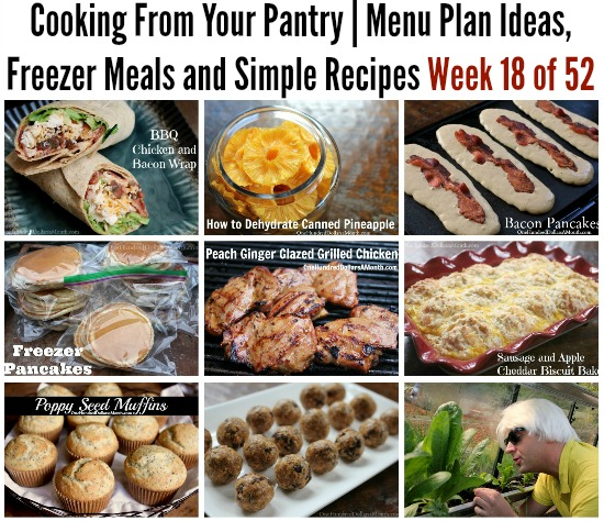 Cooking From Your Pantry  Menu Plan Ideas, Freezer Meals and Simple Recipes Week 18 of 52