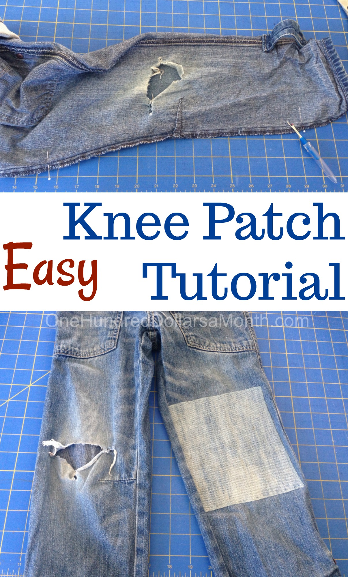 DIY Knee Patch Tutorial