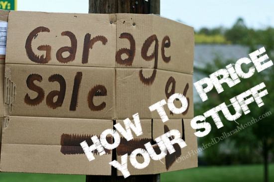 How to Price Things for a Garage Sale