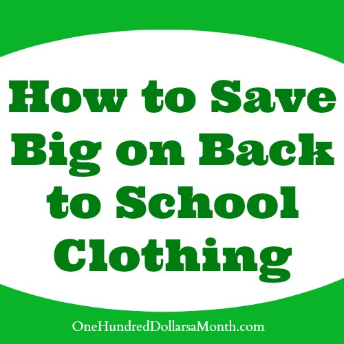 How to Save Big on Back to School Clothing