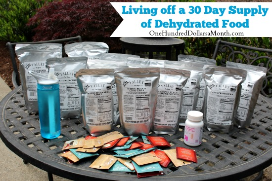 Living off a 30 Day Supply of Dehydrated Food