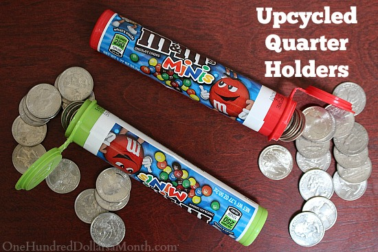 Money Saving Tip: Upcycled Quarter Holders