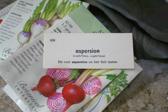 aspersion