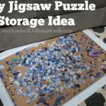 Easy Jigsaw Puzzle Storage Idea