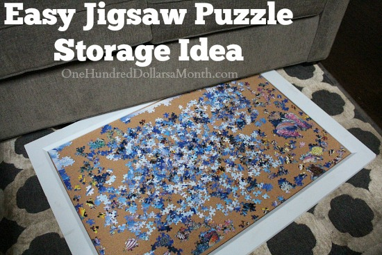 Easy Jigsaw Puzzle Storage Idea