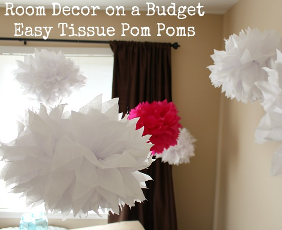 Room Decor on a Budget: Easy Tissue Pom Poms