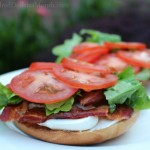 bacon cream cheese bagel