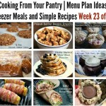 Cooking From Your Pantry | Menu Plan Ideas, Freezer Meals and Simple Recipes Week 23 of 52