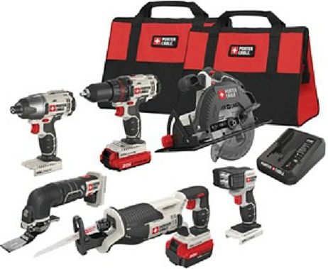 35 Off a PORTER-CABLE 20-Volt MAX 6-Tool Combo Kit