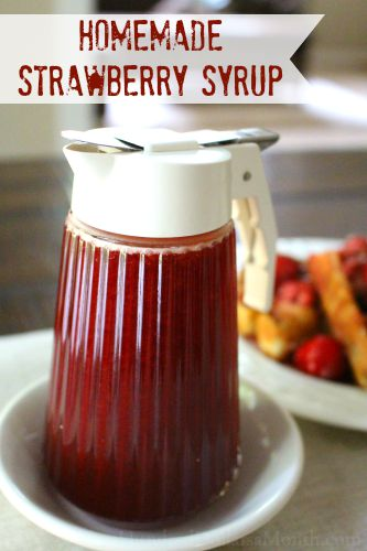 Homemade Strawberry Syrup Recipe