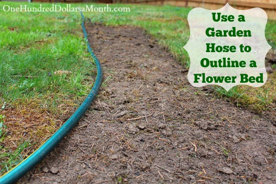 Gardening Tip – Use a Garden Hose to Outline a Flower Bed