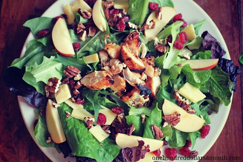 Recipe: BBQ Chicken Salad with Cranberries, Pecans and Apples