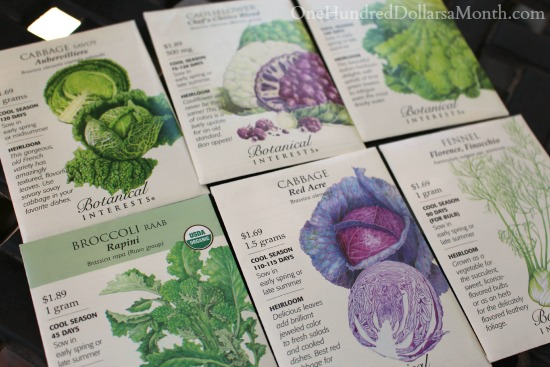 botanical interests garden seeds