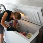 cleaning out freezer