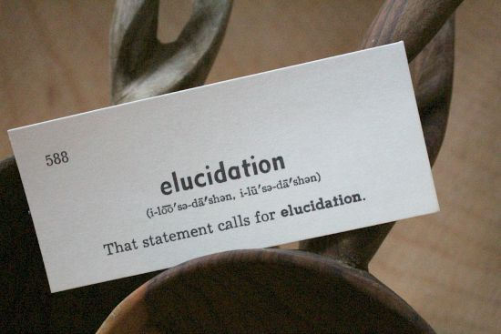 elucidation