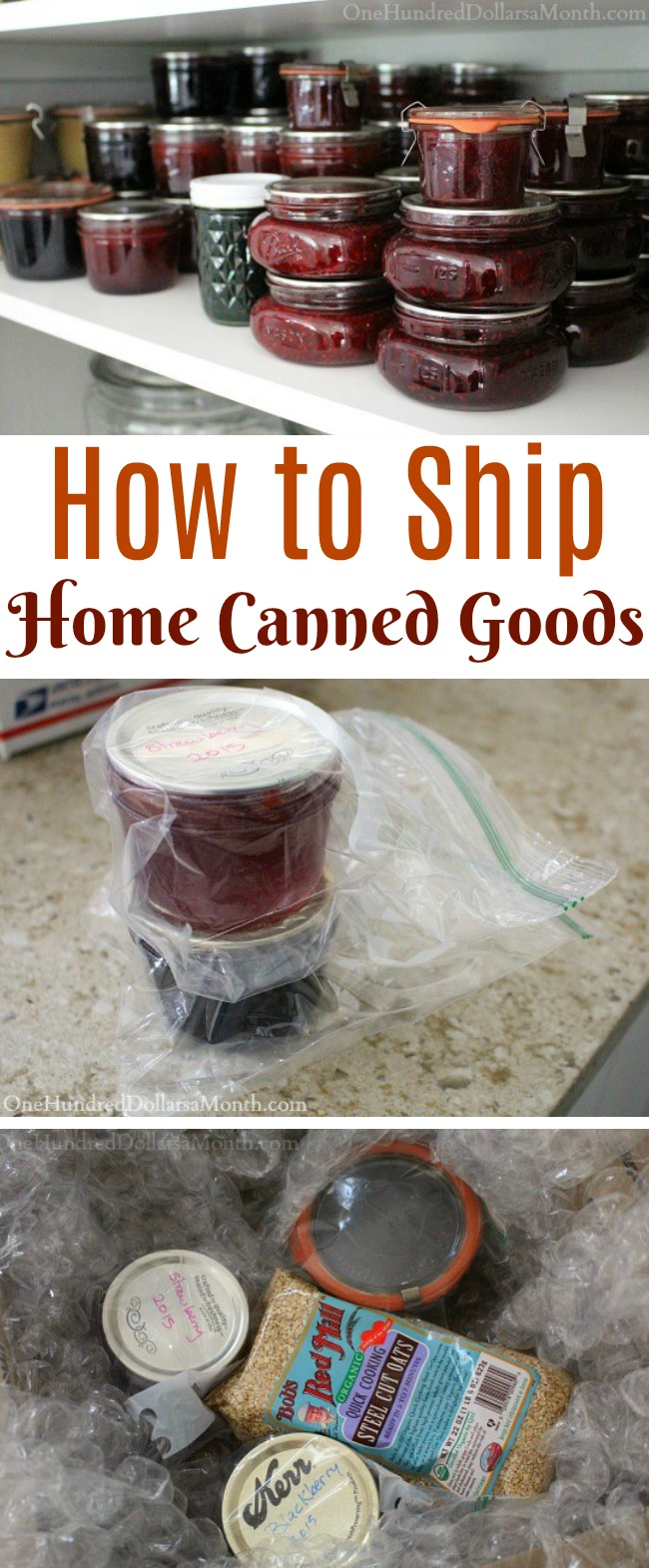 How to Ship Home Canned Goods