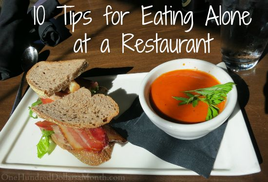 10 Tips for Eating Alone at Restaurant