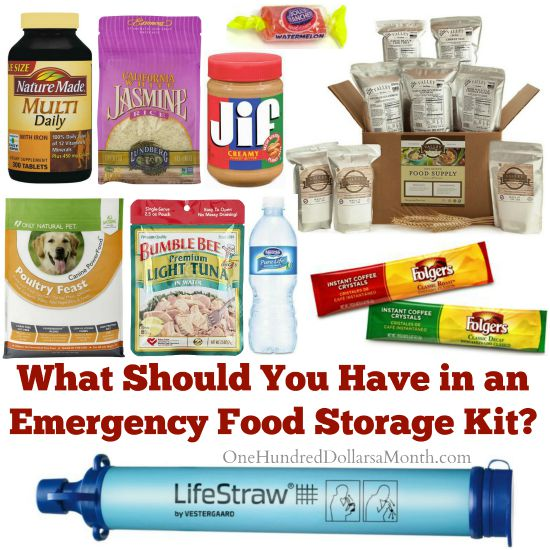 What Should You Have in an Emergency Food Storage Kit?