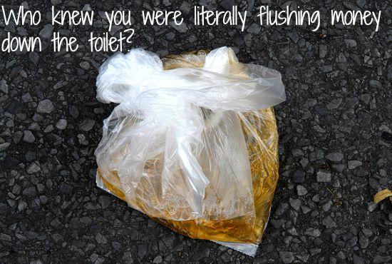 bag of urine