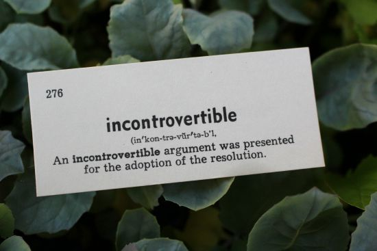 incontrovertible