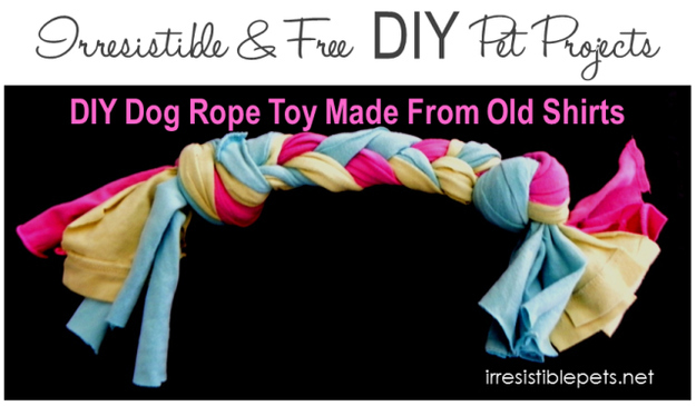Make Your Own Rope Tug Toy For Dogs