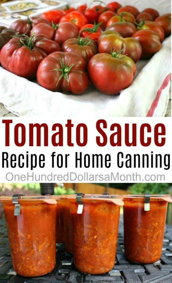Simple Tomato Sauce Recipe for Canning