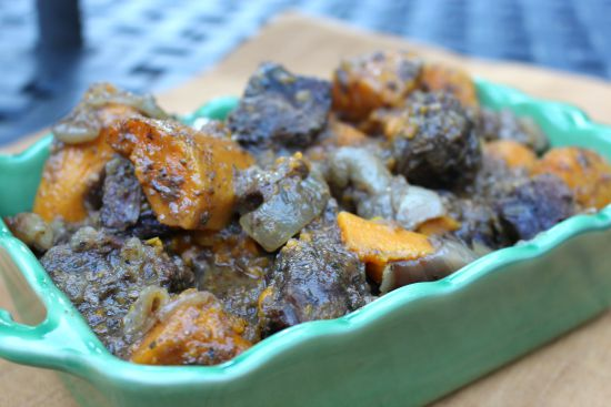 Crock Pot Beef with Sweet Potatoes and Apples