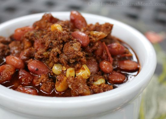 Crock Pot Chili with Heirloom Tomatoes and Beer