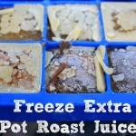 Penny Pinching Tip – Freeze Extra Pot Roast Juices
