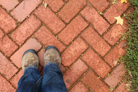 brick walkway path