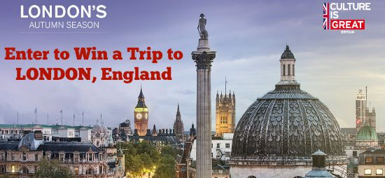 Enter to Win a Trip for 2 to LONDON, England!!!!