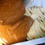 Upside Down Pear-Gingerbread Cake