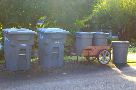 trash garbage cans
