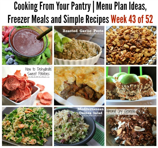 Cooking From Your Pantry | Menu Plan Ideas, Freezer Meals and Simple Recipes Week 43 of 52