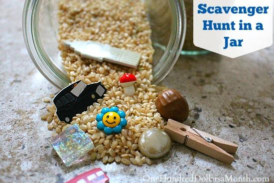 Fun Rainy Day Activity: Scavenger Hunt in a Jar