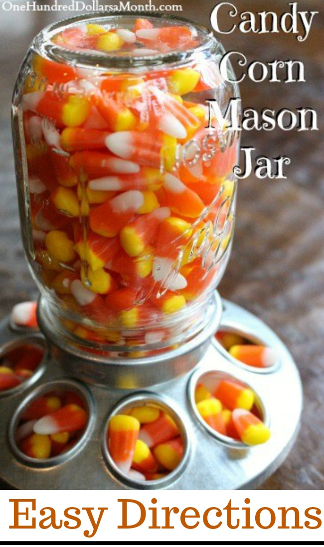 Candy Corn Mason Jar – Upcycling a Mason Jar