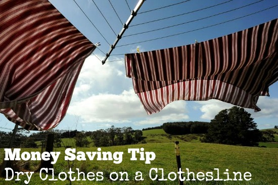 Money Saving Tip: Dry Clothes on a Clothesline