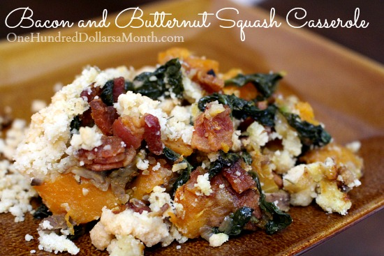 Bacon and Butternut Squash Casserole