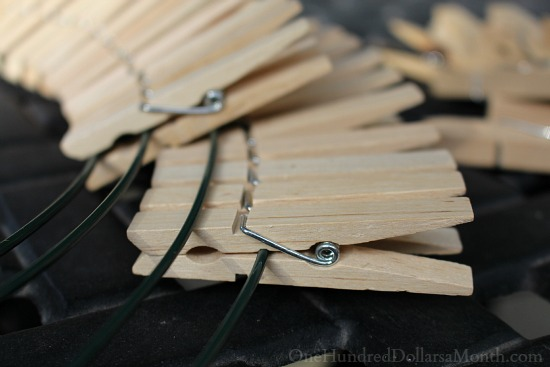 DIY Clothespin Wreath