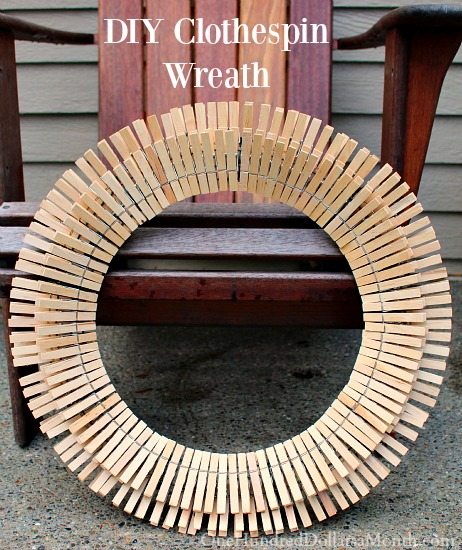 DIY Clothespin Wreath