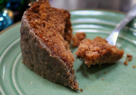 Spiced Applesauce Cake w/ Caramel Glaze