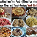 Cooking From Your Pantry   Menu Plan Ideas, Freezer Meals and Simple Recipes Week 45 of 52