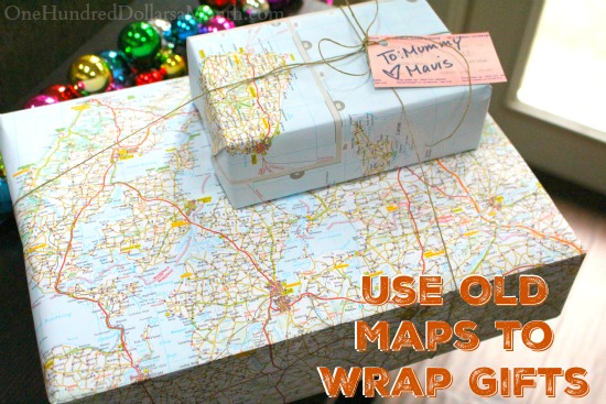 Penny Pinching Tip—Use Old Maps to Wrap Gifts